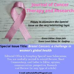 Special Issue on Breast Cancer: a challenge in women's global health.